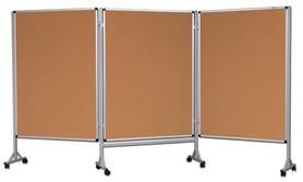 Mobilny tryptyk parawanowy-korkowy 120x160 cm (3 ścianki)