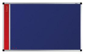 Tablica na logo tekstylna w ramie aluminiowej B1 (niebieski-unijny) 60x90 cm