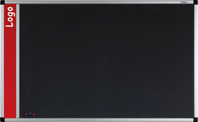 Tablica na logo tekstylna w ramie aluminiowej B1 (szara) 100x150 cm