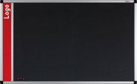 Tablica na logo tekstylna w ramie aluminiowej B1 (szara) 100x200 cm