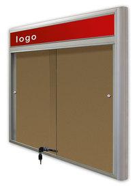 Gablota Casablanka eco  korkowa-drzwi przesuwane z logo 119x98 (12xA4)