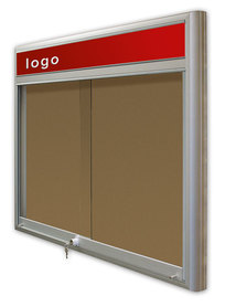 Gablota Casablanka korkowa-drzwi przesuwane z logo 91x98 (8xA4)