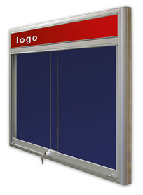 Gablota Casablanka tekstylna-drzwi przesuwane z logo 95x100