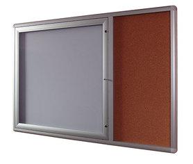 Gablota Oxford z panelem bocznym korkowym 84x139