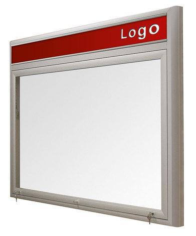 Gablota Ibiza zewnętrzna magnetyczna z logo 122x242 (30xA4) dwudrzwiowa (1)