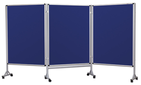 Mobilny tryptyk parawanowy-tekstylny (niebieski-unijny) 120x160 cm (3 ścianki) (1)