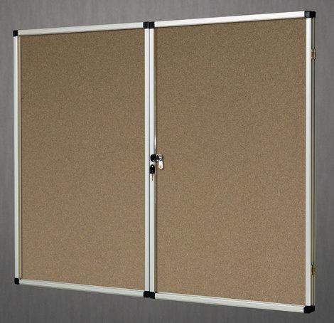Gablota wewnętrzna Lisbona -L1 korkowa 90x120cm 2-drzwiowa (1)