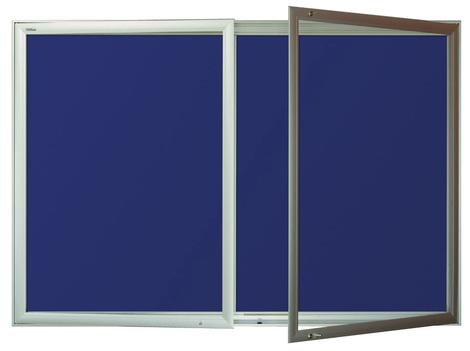 Gablota Aspen tekstylna 103x194 (24xA4) 2-drzwiowa (1)