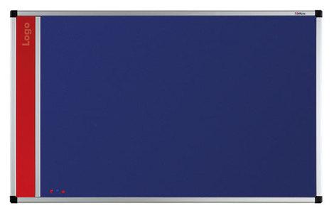 Tablica na logo tekstylna w ramie aluminiowej B1 (niebieski-unijny) 90x120 cm (1)