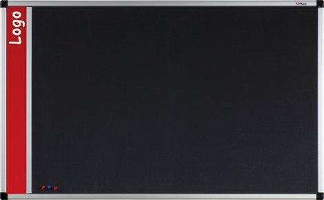 Tablica na logo tekstylna w ramie aluminiowej B1 (szara) 90x120 cm (1)