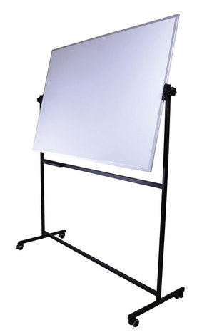 Tablica obrotowo-jezdna Clasic biała suchościeralna, magnetyczna ceramiczna 100x150 cm (1)