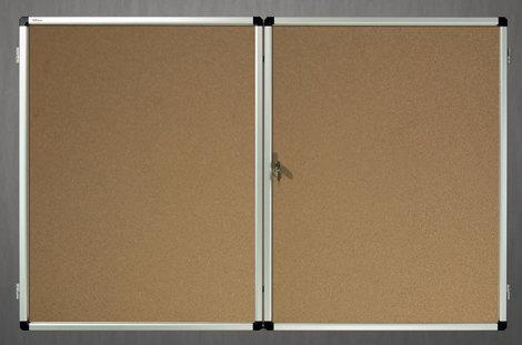 Gablota wewnętrzna Lisbona -L2 korkowa 100x150 cm dwudrzwiowa (1)