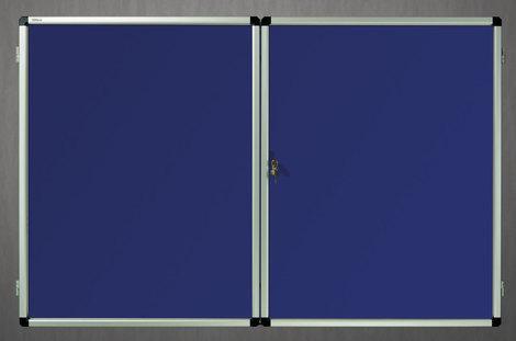 Gablota wewnętrzna lisbona -L2 tekstylna 98x137 cm  (18xA4) dwudrzwiowa (1)