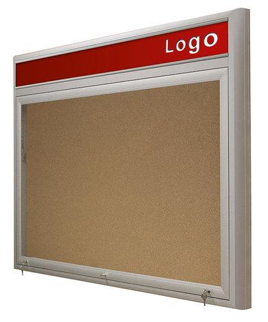 Gablota Ibiza korkowa z logo wewnętrzna 99x164 drzwi z pleksi (1)