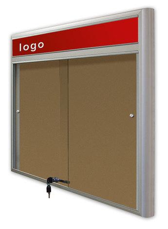 Gablota Casablanka eco  korkowa-drzwi przesuwane z logo 89x98 (8xA4) (1)