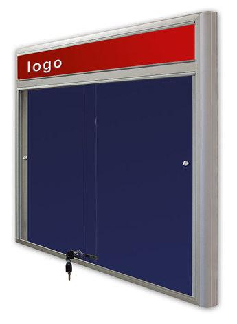 Gablota Casablanka eco  tekstylna-drzwi przesuwane z logo 93x140 (1)