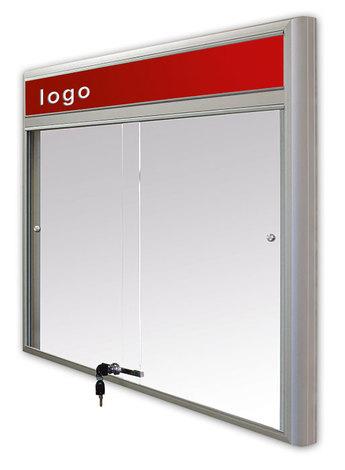 Gablota Casablanka eco magnetyczna-drzwi przesuwane z logo 89x98 (8xA4) (1)