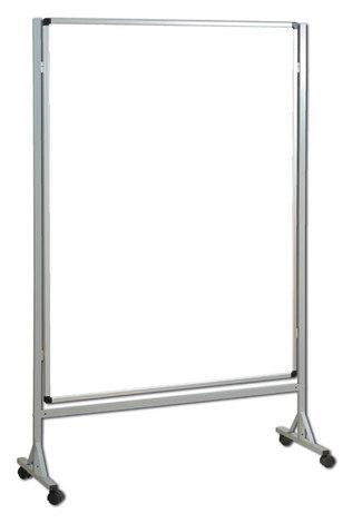 Mobilna ścianka biała suchościeralno magnetyczna 120x160 cm (1)