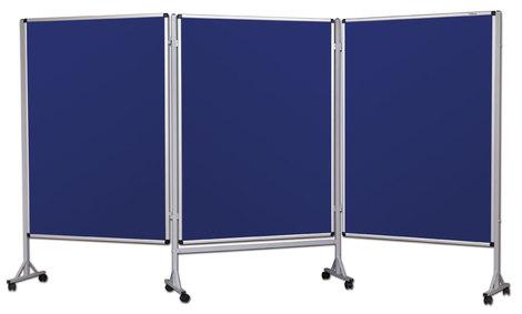 Mobilny tryptyk parawanowy-tekstylny (niebieski - unijny) 100x120 cm (3 ścianki) (1)