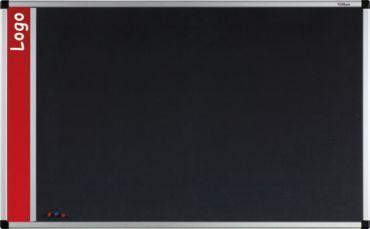 Tablica na logo tekstylna w ramie aluminiowej B1 (szara) 120x180 cm (1)