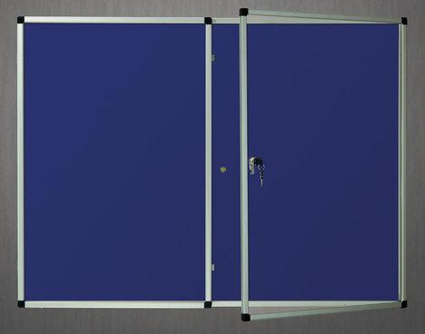 Gablota wewnętrzna Lisbona -L1 tekstylna 90x120 cm dwudrzwiowa (1)