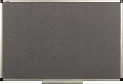 Tablica tekstylna (szara) rama aluminiowa model B2 90×120 cm (1)