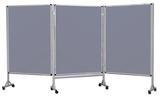 Mobilny tryptyk parawanowy-tekstylny (szary) 120x160 cm (3 ścianki) (1)