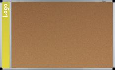Tablica na logo korkowa w ramie aluminiowej B1 120x180 cm