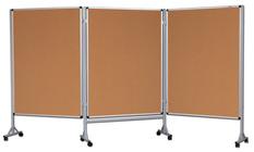 Mobilny tryptyk parawanowy-korkowy 120x180 cm (3 ścianki)