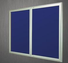 Gablota Aspen tekstylna 103x238 (30xA4) 2-drzwiowa