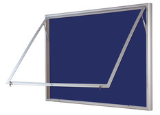 Gablota Ibiza tekstylna 107x168  (21xA4) drzwi z pleksi
