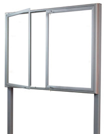 Gablota Ibiza stojąca magnetyczna 107x198 (24xA4) 2-drzwiowa