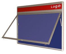 Gablota Oxford tekstylna wewnętrzna z logo 92x124 (10xA4)