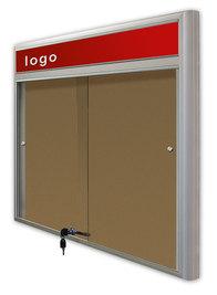 Gablota Casablanka eco  korkowa-drzwi przesuwane z logo 119x230 (30xA4)