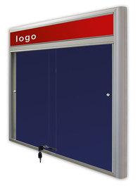 Gablota Casablanka eco  tekstylna-drzwi przesuwane z logo 89x98 (8xA4)