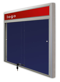 Gablota Casablanka eco  tekstylna-drzwi przesuwane z logo 93x100