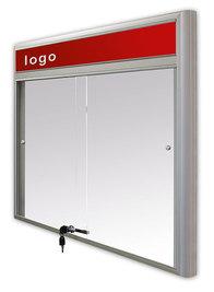 Gablota Casablanka eco magnetyczna-drzwi przesuwane z logo 93x100