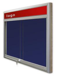 Gablota Casablanka tekstylna-drzwi przesuwane z logo 91x77 (6xA4)