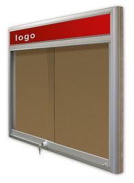 Gablota Casablanka korkowa-drzwi przesuwane z logo 121x98 (12xA4)