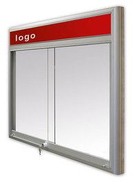 Gablota Casablanka magnetyczna-drzwi przesuwane z logo 95x140