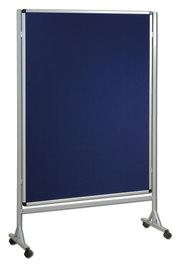 Mobilna ścianka tekstylna (niebieski-unijny) 120x160 cm